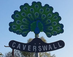 Caverswall Village Peacock Sign